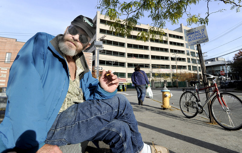 John Chapman Jr. is homeless in Portland.