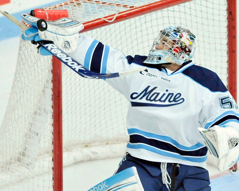 Martin Ouellette has shared playing time with fellow sophomore Dan Sullivan through the first six games of Maine's hockey season.