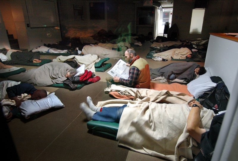 Portland's Oxford Street Shelter, above, averages 180 people each night, says the director of Preble Street.