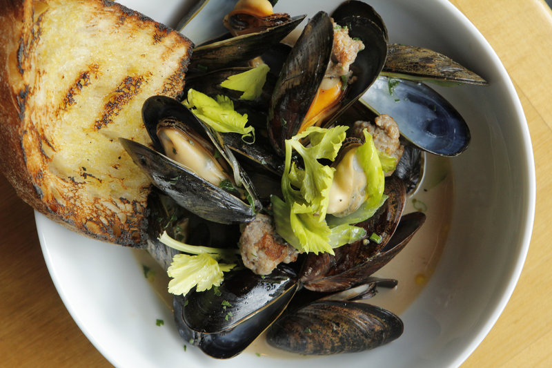 The finished product – Wild Maine Mussels
