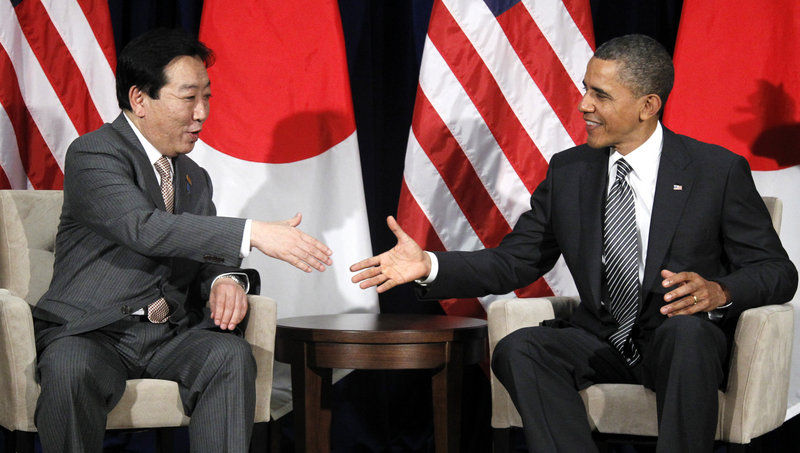 President Obama meets with Japanese Prime Minister Yoshihiko Noda at the APEC Summit in Honolulu on Saturday. He also met with Russian and Chinese leaders.