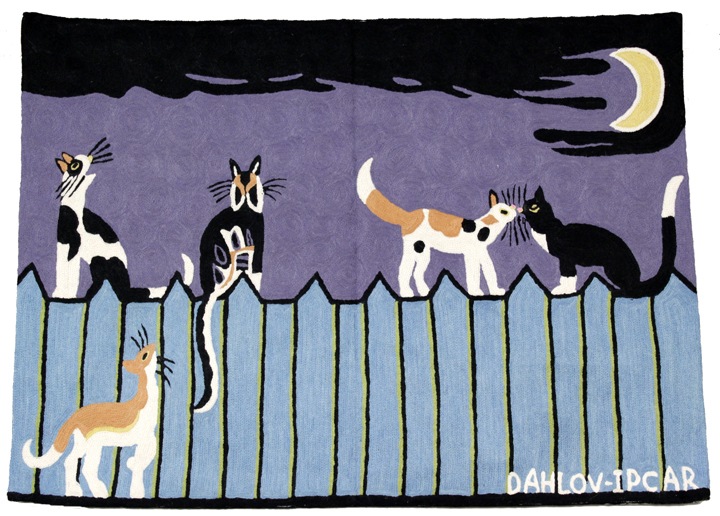 """""""Cats on a Fence,"""" from """"The Dahlov Ipcar Collection"""""""