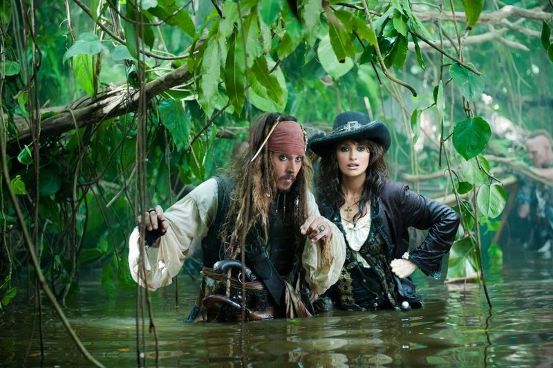 "Johnny Depp returns as Capt. Jack Sparrow and Penelope Cruz is old flame Angelica in ""Pirates of the Caribbean: On Stranger Tides."""