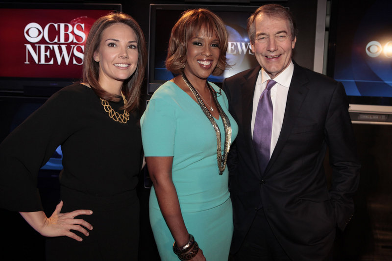 The hosts of the new CBS morning show are, from left, Erica Hill, Gayle King and Charlie Rose. The network said Tuesday the show will change its name, but didn't announce a new one. The new show premieres Jan. 9.