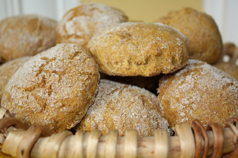 Sweet Potato Biscuits are made with cooked potatoes and wheat flour for a healthy bread dish.