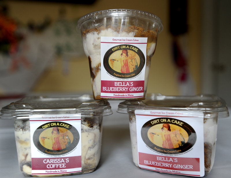 Emily Adams of Windham launched her ice-cream cake company Dirt on a Cake in September 2010.
