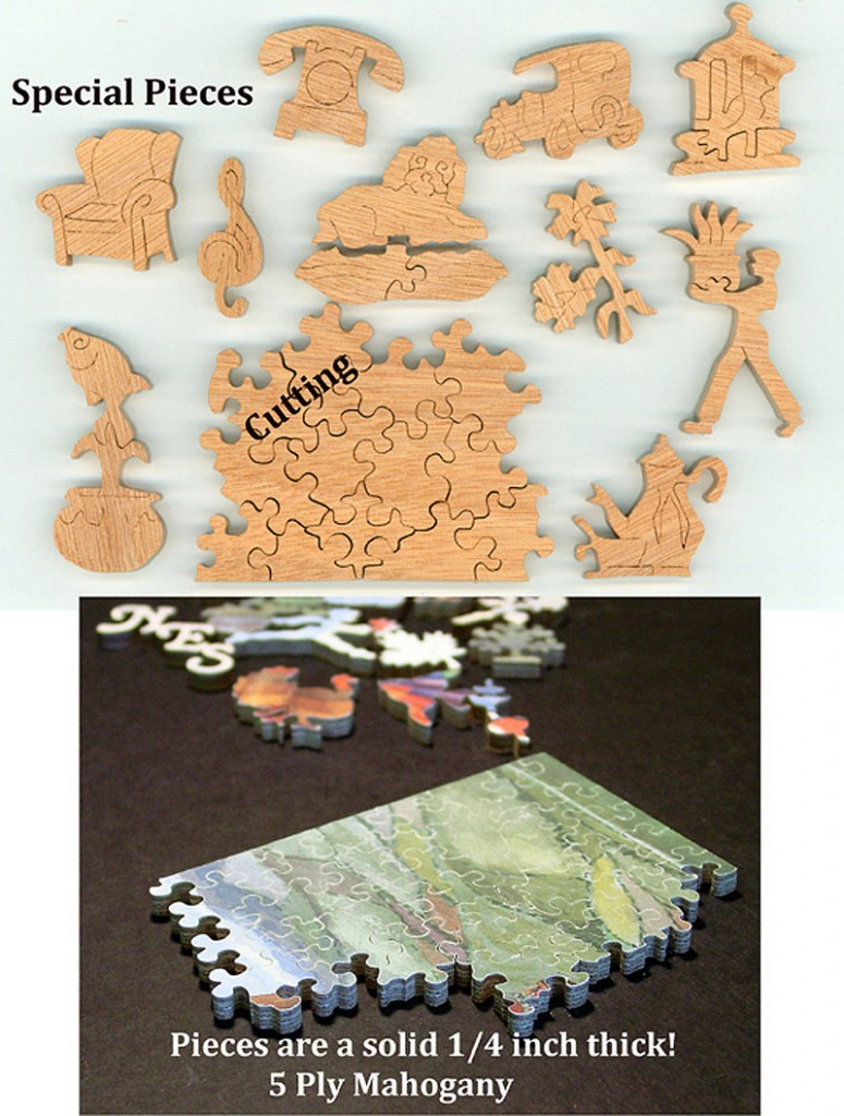 ... a handcut wooden jigsaw puzzle ...