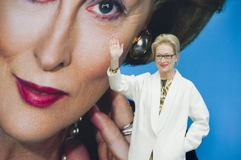 """Actress Meryl Streep attends a news conference for """"The Iron Lady"""" in London last Monday. The movie is about former British Prime Minister Margaret Thatcher."""