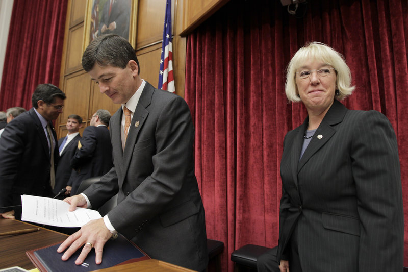 The co-chairs of the Joint Select Committee on Deficit Reduction, Rep. Jeb Hensarling, R-Texas, and Sen. Patty Murray, D-Wash., wrap up the committee's first organizational meeting in September. On Monday, two months later, they said the so-called supercommittee had failed to agree on at least $1.2 trillion in budget savings by the Wednesday deadline.