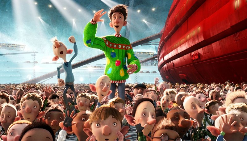 """The title character, right, is voiced by James McAvoy in """"Arthur Christmas."""""""