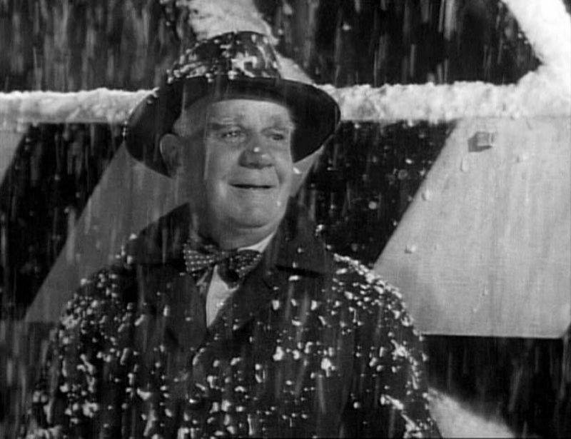 """Strange, isn't it? Each man's life touches so many other lives. When he isn't around, he leaves an awful hole, doesn't he?"" – CLARENCE, ANGEL 2ND CLASS (Henry Travers), to George Bailey (Jimmy Stewart), in ""It's a Wonderful Life."""