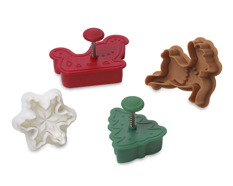 Holiday pastry cutters from Williams-Sonoma.