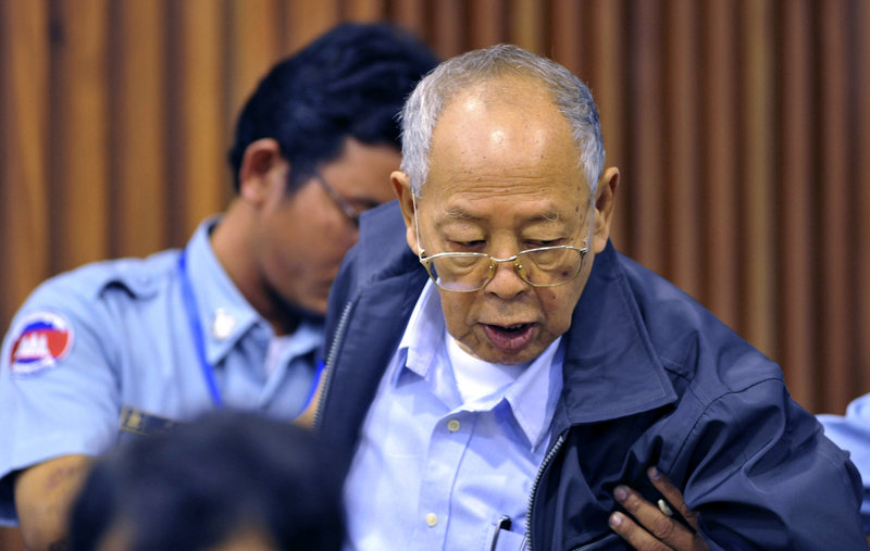 Ieng Sary, 86, former Khmer Rouge foreign minister, is one of three men on trial for crimes against humanity in Phnom Penh, Cambodia.