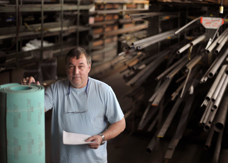 Stockroom supervisor Jim Jamo stands in a supply room of the Great Northern Paper Co. mill in East Millinocket this week. In a deal brokered by the state, Cate Street Capital, an investment group based in Portsmouth, N.H., bought the mills in East Millinocket and Millinocket from Toronto-based Brookfield Asset Management Inc. and has outlined plans for continued growth in the region.