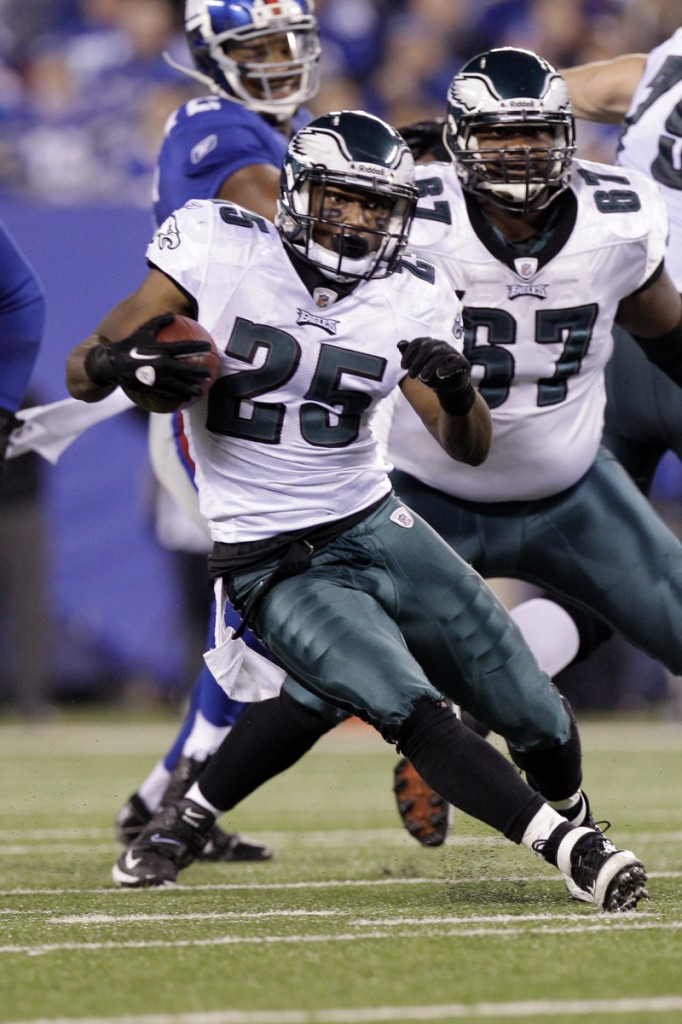 Philadelphia Eagles running back LeSean McCoy (25) is the lone running back in the league this year to have already gained more than 1,000 yards.