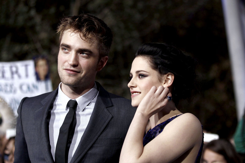 "Co-stars Robert Pattinson and Kristen Stewart arrive at the world premiere of the latest movie in the ""Twilight"" series last week in Los Angeles."