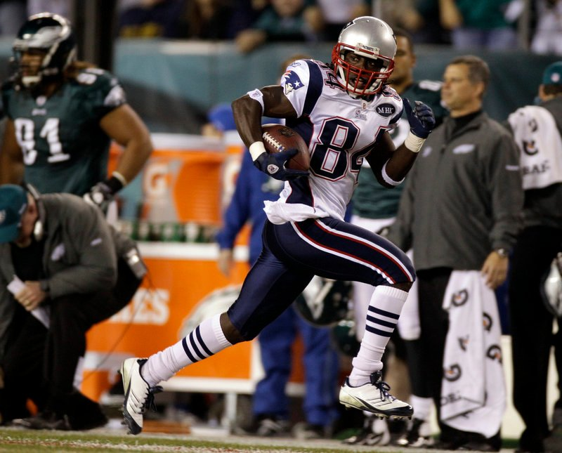 Deion Branch of the Patriots was another favorite target for quarterback Tom Brady on Sunday, catching six passes for 125 yards.