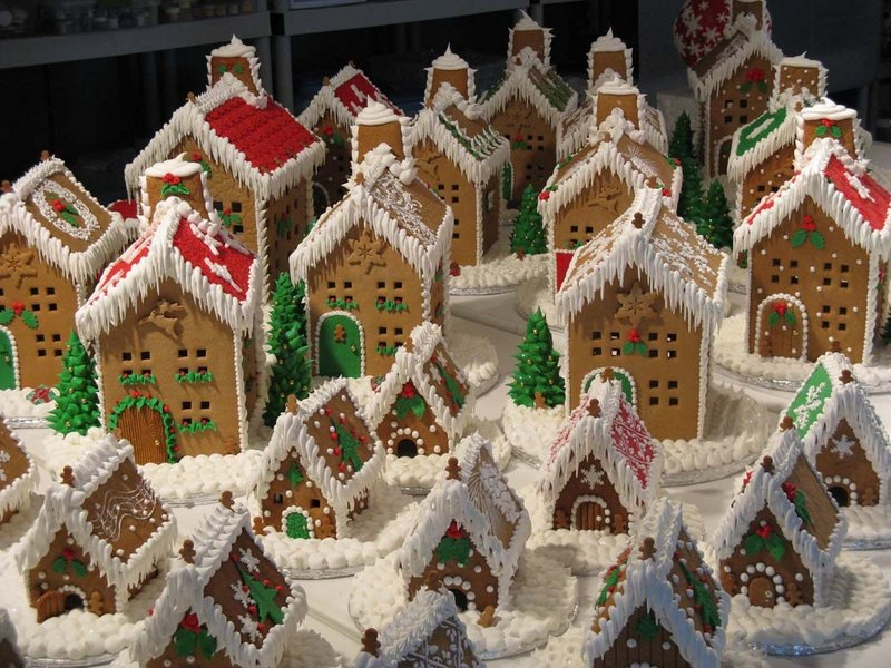 "Gingerbread houses by Trish Moroz, ""the Gingerbread Lady,"" will be on display at the Holly Berry Fair on Saturday at the Rockport Opera House."