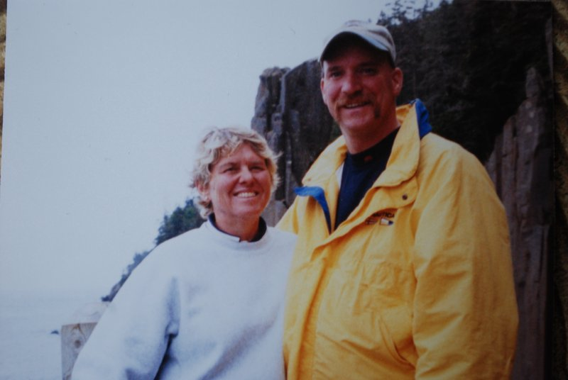 Stephen MacDonald and girlfriend Sylvia Hull, also a paramedic with the Portland Fire Department, in New Brunswick in 2006.
