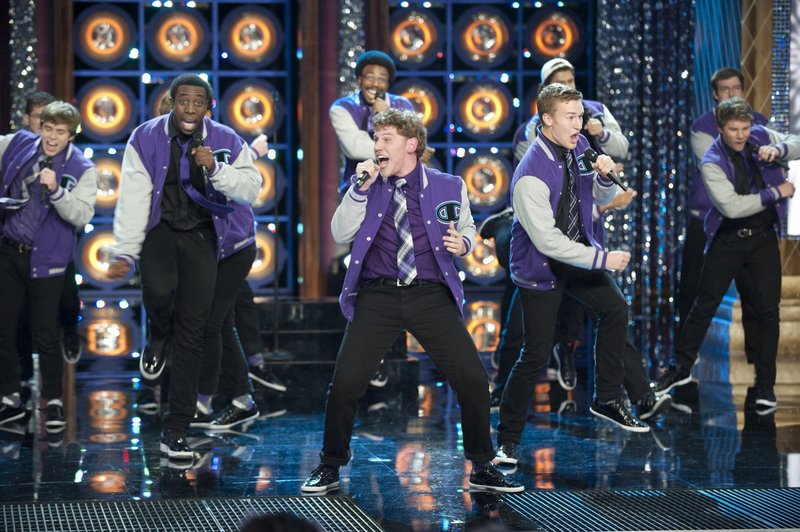 """Michael Odokara-Okigbo, second from left, performs on """"The Sing-Off."""""""