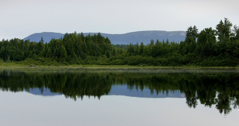 Big Spencer Mountain is reflected in Second Roach Pond, located in Maine's 100-mile Wilderness. Maine's north woods is the largest contiguous forest in the Northeast, and it's an area where many competing interests must be considered. northern exposure series