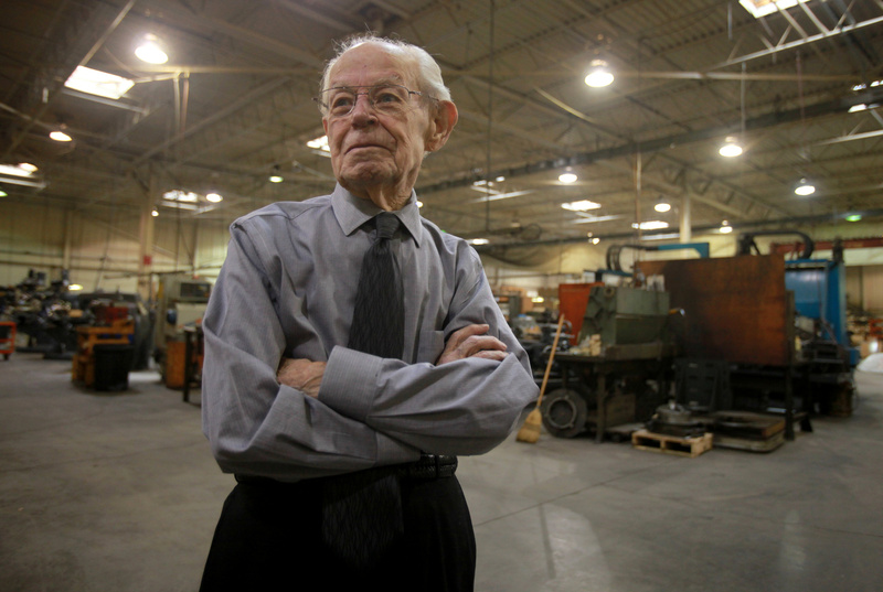 Al Churchill doesn't let age slow him down at his job working for Magnetool in Troy, Mich. The 97-year-old still reports for work five days a week at the company he founded, where he has been president for six decades. 04000000 08000000 FIN HUM krtbusiness business krtfeatures features krthumaninterest human interest krtnational national krtedonly mct 08003000 ODD PEO people 14024005 FEA krtseniors senior citizen krtsocialissue social issue SOI 2011 krt2011