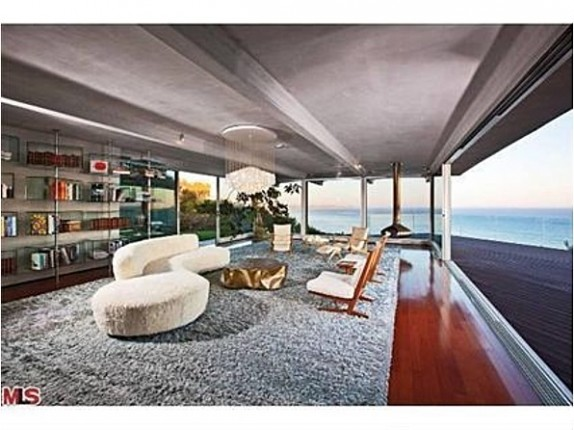 This Malibu home features many rooms with ocean views.