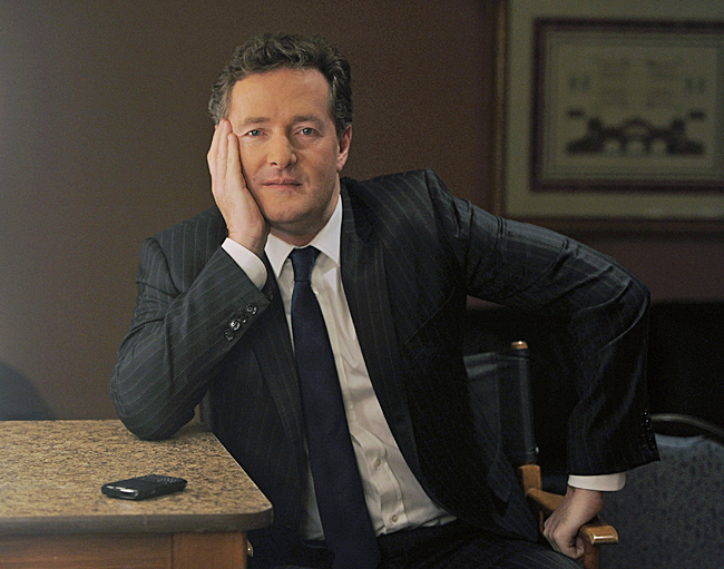 FILE - This Thursday, Jan. 6, 2011 file photo shows Piers Morgan, host of CNN's