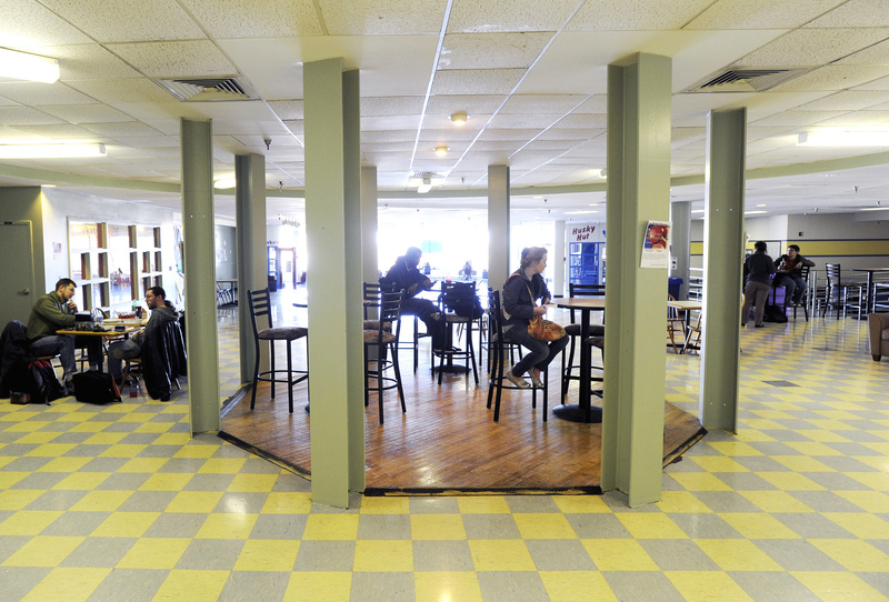 "Students eat and read at the University of Southern Maine's Gorham campus. ""USM is a great school in an exciting part of the state,"" one reader says."