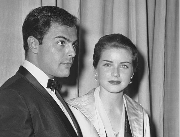 In this April 4, 1960, Dolores Hart and actor John Saxon arrive at the Pantages Theater in Hollywood, Calif., for the Academy Awards show.