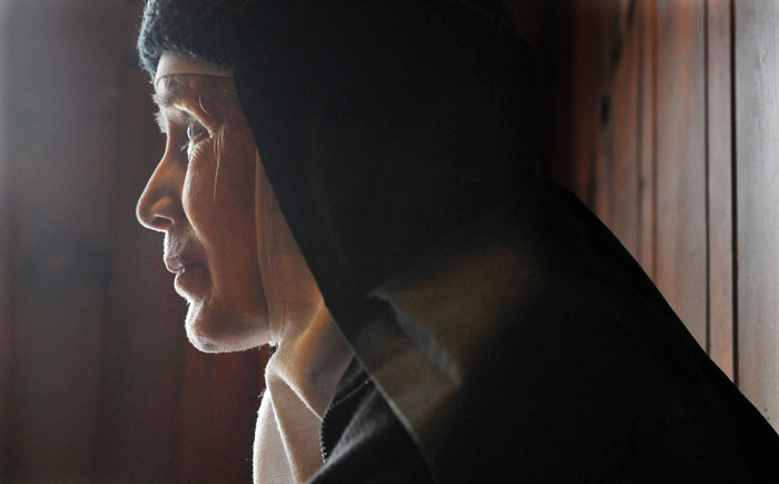 Mother Dolores Hart, photographed Thursday at the Abbey of Regina Laudis monastery in Bethlehem, Conn.