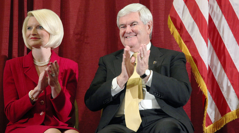 Newt Gingrich with third wife Callista. Americans' attitudes toward divorced candidates have changed. But while one previous marriage seems to be acceptable, it remains to be seen whether a candidate with more than one failed union will be viewed favorably.