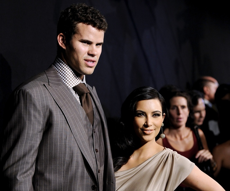 Newlyweds Kim Kardashian and Kris Humphries attend a party in their honor at the Capitale in New York on Aug. 31. Humphries filed for an annulment of the couple's 72-day marriage Thursday. Half-Length