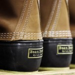 "L.L. Bean boots, seen here in the facility where they are assembled in Brunswick, ""are very practical, but also ... fashionable,"" one student said."