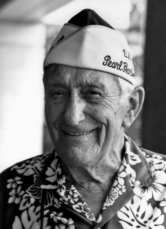 Pearl Harbor survivor Lee Soucy, in an undated National Park Service photo. His ashes are being interred on the USS Utah, which lost nearly 60 men when it sank on Dec. 7, 1941.