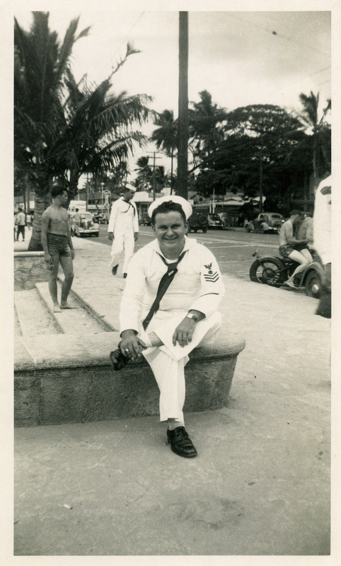 Pearl Harbor survivor Vernon Olsen, in an undated photo provided by the National Park Service. Olsen's ashes will be interred on the USS Arizona in Pearl Harbor this week in accordance with his wishes.