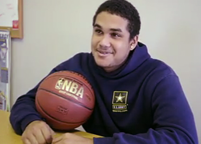 Terrell Patterson, LearningWorks student and former Old Orchard Beach High School basketball player.
