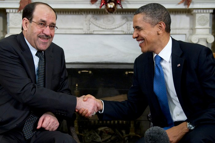 President Barack Obama meets with Iraq's Prime Minister Nouri al-Maliki in the Oval Office today.