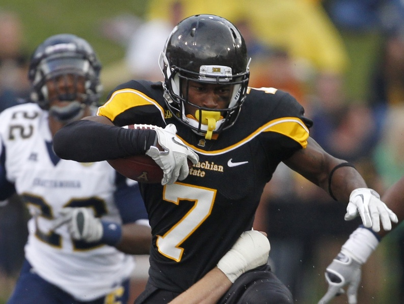 Travaris Cadet has proven to be both a running and receiving threat for Appalachian State, which will be home against Maine in the second round of the FCS playoffs.