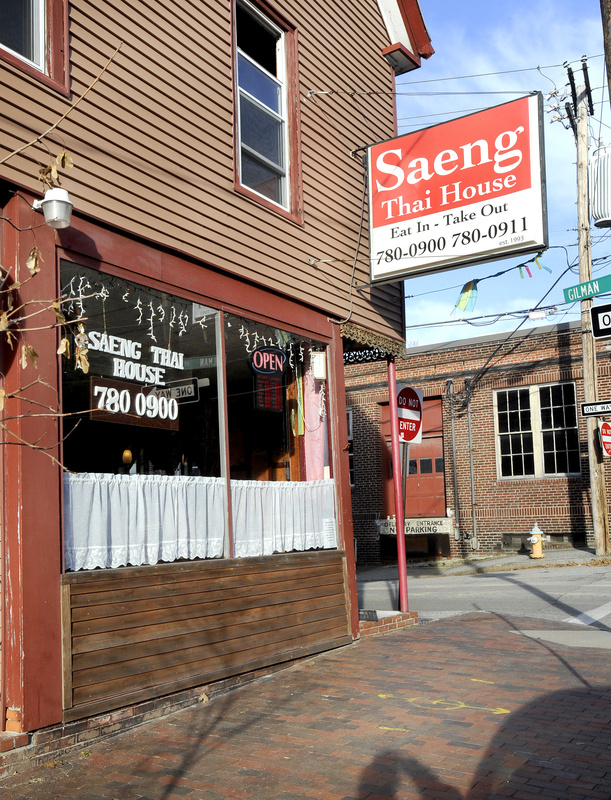Saeng Thai House in Portland sits across Congress Street from the Maine Medical Center garage.