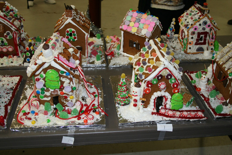 These gingerbread houses were made at the Denmark Congregational Church's annual gingerbread house making workshop last year.