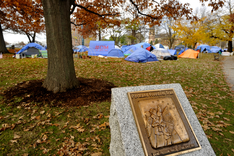 Occupy Portland's tent city in Lincoln Park.