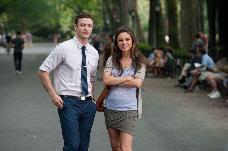 "Justin Timberlake and Mila Kunis in ""Friends with Benefits."""