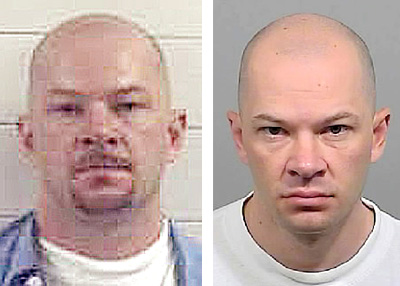 David Hobson, in photos provided by the Maine State Police, left, and by the Cumberland County Sheriff's Department, right. The photo on the right was taken in July 2011.