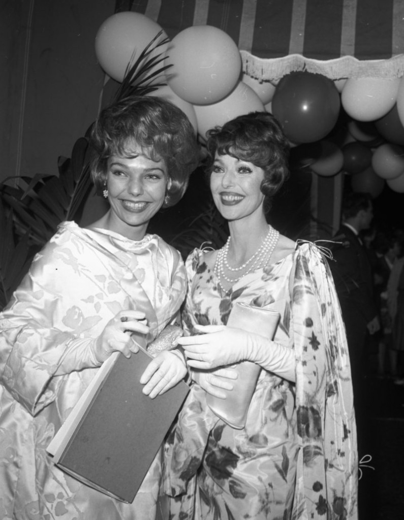 "Actress Loretta Young, right, and her daughter Judy Lewis attend a party after the Emmy awards in Hollywood in 1961. Lewis was conceived out of wedlock by Young and Clark Gable while the two filmed ""Call of the Wild"" in the 1930s."