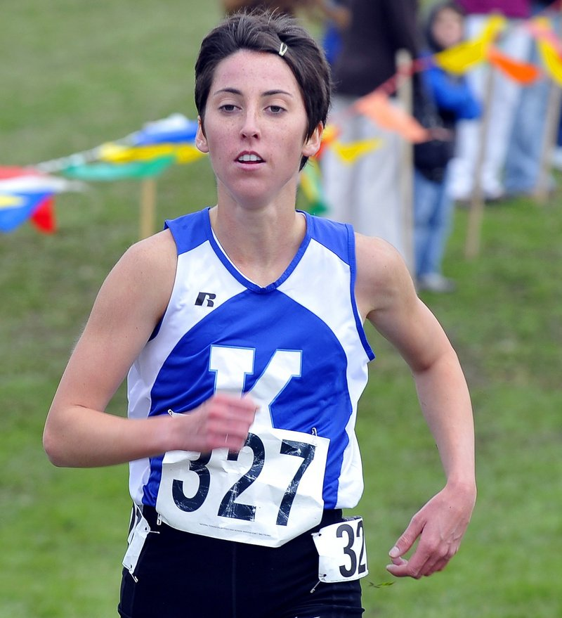 Abbey Leonardi, the only four-time girls' cross country state champion in Maine history, is the Maine Sunday Telegram runner of the year for the fourth year in a row.