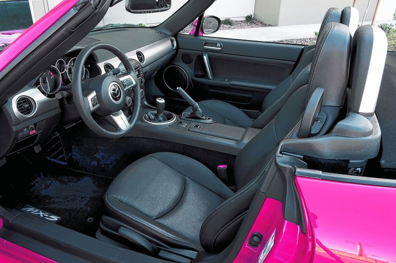 Inside the MX-5, the steering is responsive and offers a precise and quick-shifting six-speed gearbox.