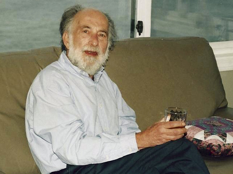 Former professor Robert Spiegel is shown at his home in Berlin, Conn. Spiegel died Wednesday at age 77.