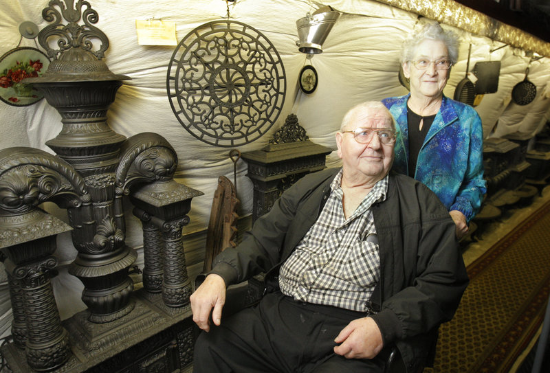 Joe and Bea Bryant own Bryant's Stove & Music in Thorndike. About 1,000 stoves are housed at Bryant's.