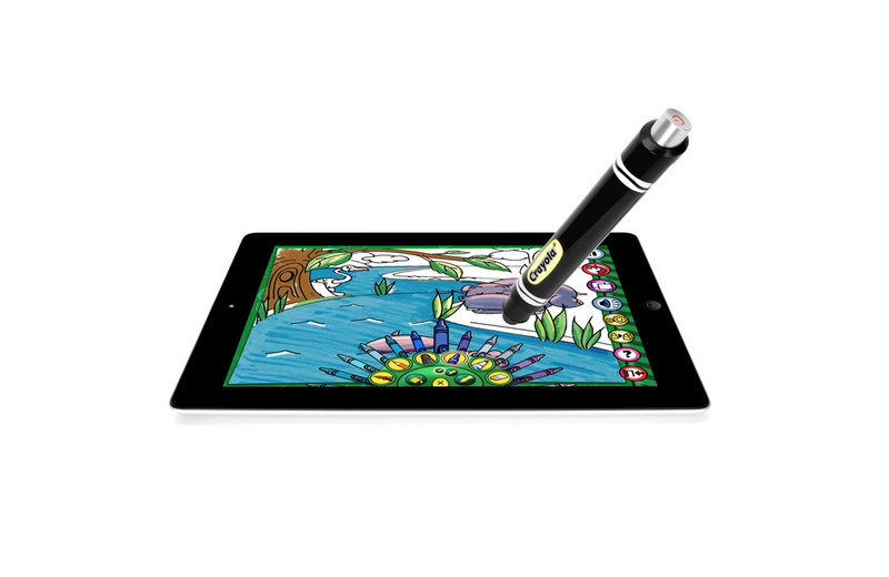 The Crayola Color Studio and iMarker allow children to doodle on the iPad just as they would a coloring book.